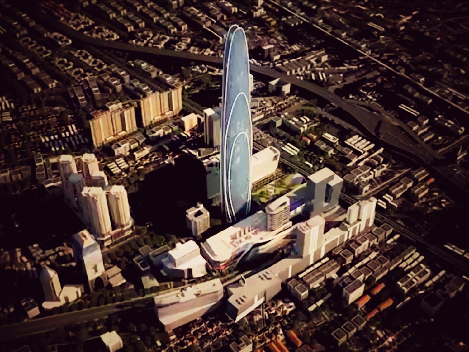 バンコク スーパータワーの完成予想図